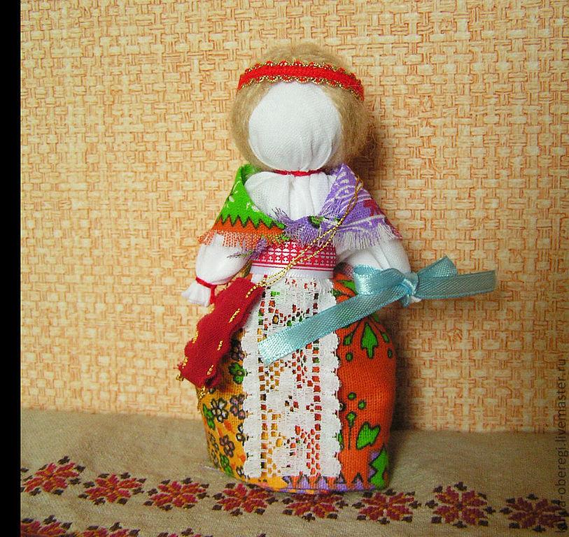 Как сделать куклу оберег на удачу