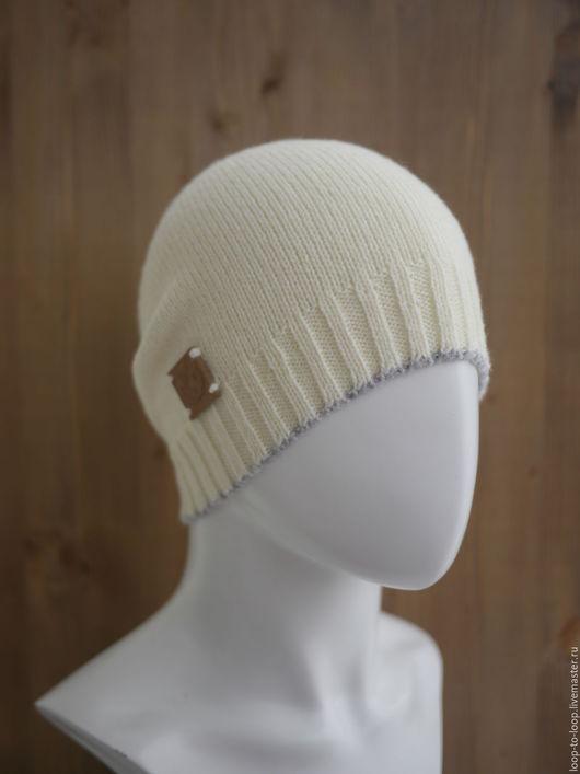 Шапки ручной работы. Ярмарка Мастеров - ручная работа. Купить Вязаная шапка. Handmade. Кремовый, шапка, шапка-чулок, полиакрил