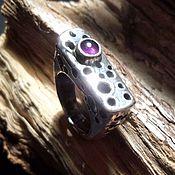 Украшения handmade. Livemaster - original item Silver ring with amethyst Rodnik. Handmade.
