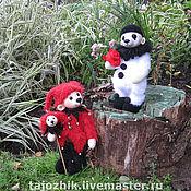 Куклы и игрушки ручной работы. Ярмарка Мастеров - ручная работа Медведи Шутик и Пьеро. Handmade.