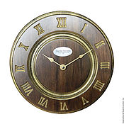Для дома и интерьера handmade. Livemaster - original item Classic wall clock. Wood. Vintage. A/. Handmade.