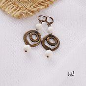 Украшения handmade. Livemaster - original item Earrings made of white coral. Handmade.