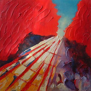 Картины и панно ручной работы. Ярмарка Мастеров - ручная работа Картины: Утренняя даль. Handmade.