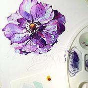 Картины и панно handmade. Livemaster - original item Pattern watercolor Anemone artist Kristina Gavrilova. Handmade.