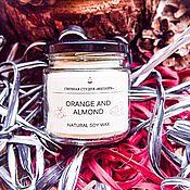 Свечи ручной работы. Ярмарка Мастеров - ручная работа Соевая свеча - аромат апельсина и миндаля. Handmade.