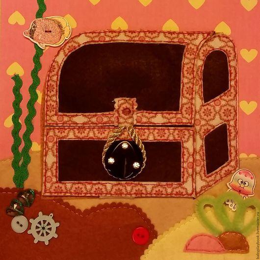 """Развивающие игрушки ручной работы. Ярмарка Мастеров - ручная работа. Купить Разворот в книгу """"Морское дно с сокровищами"""". Handmade. фетр"""