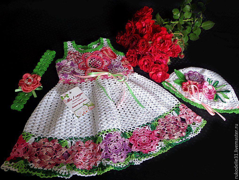 Купить Платье Вязаное Детское Платье