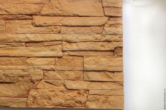 """Экстерьер и дача ручной работы. Ярмарка Мастеров - ручная работа. Купить Декоративный камень """"Каир"""". Handmade. Оранжевый, стена, для прихожей"""