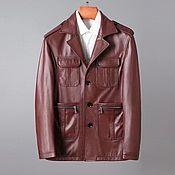 Мужская одежда handmade. Livemaster - original item Men`s outerwear: calf leather jacket, with buttons.. Handmade.