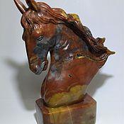 Для дома и интерьера ручной работы. Ярмарка Мастеров - ручная работа Статуэтка голова лошади из яшмы.Фигурка. Handmade.