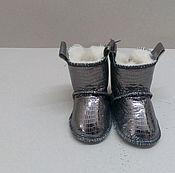 Работы для детей, ручной работы. Ярмарка Мастеров - ручная работа Пинетки детские серебро. Handmade.