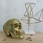 Изделия ручной работы. Ярмарка Мастеров - ручная работа Золотой череп. Handmade.