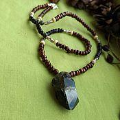 Фен-шуй и эзотерика handmade. Livemaster - original item choker with quartz and black obsidian. Handmade.