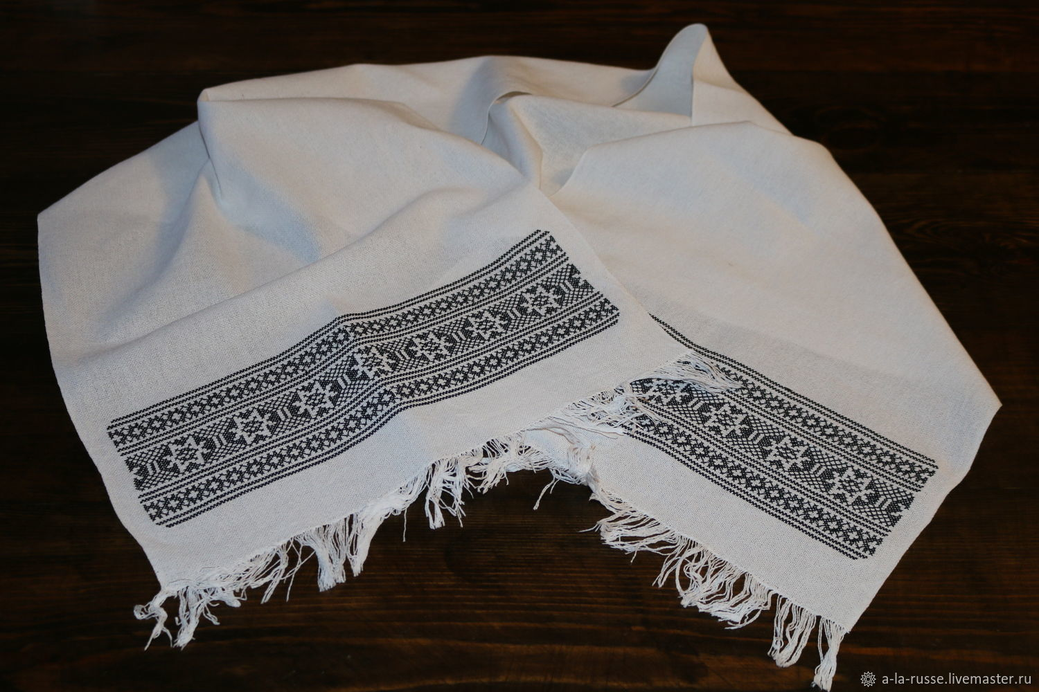 Towel embroidered with a cross pattern of Russian villages Tchaikovsky district, Towels2, Permian,  Фото №1
