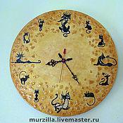 Для дома и интерьера ручной работы. Ярмарка Мастеров - ручная работа Часы - Кошки. Handmade.