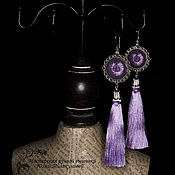 Украшения handmade. Livemaster - original item Copy of Copy of Copy of Embroidered cufflinks Murgel. Handmade.