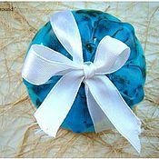 """Косметика ручной работы. Ярмарка Мастеров - ручная работа двухслойное мыло """"Голубая лагуна"""". Handmade."""