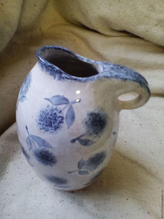 """Графины, кувшины ручной работы. Ярмарка Мастеров - ручная работа. Купить Кувшин керамики """" Голубой"""". Handmade. Белый, ваза"""