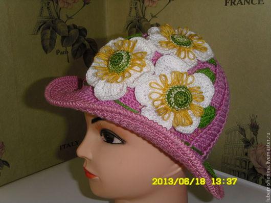 Шляпы ручной работы. Ярмарка Мастеров - ручная работа. Купить шляпка  с полями летняя. Handmade. Розовый, нарядная, нарядная