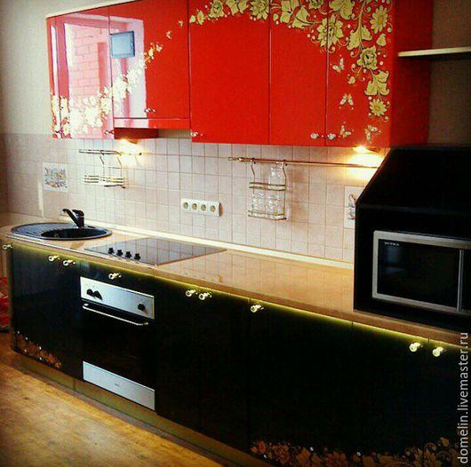 Мебель ручной работы. Ярмарка Мастеров - ручная работа. Купить Кухня с аэрографией. Handmade. Мебель ручной работы, эмаль