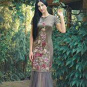 Одежда handmade. Livemaster - original item Evening floor-length dress with embroidery