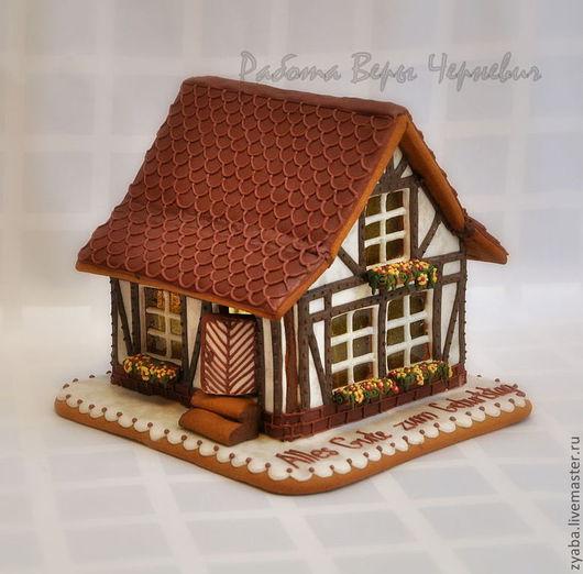 Кулинарные сувениры ручной работы. Ярмарка Мастеров - ручная работа. Купить Пряничный домик в немецком стиле - индивидуальный заказ. Handmade.