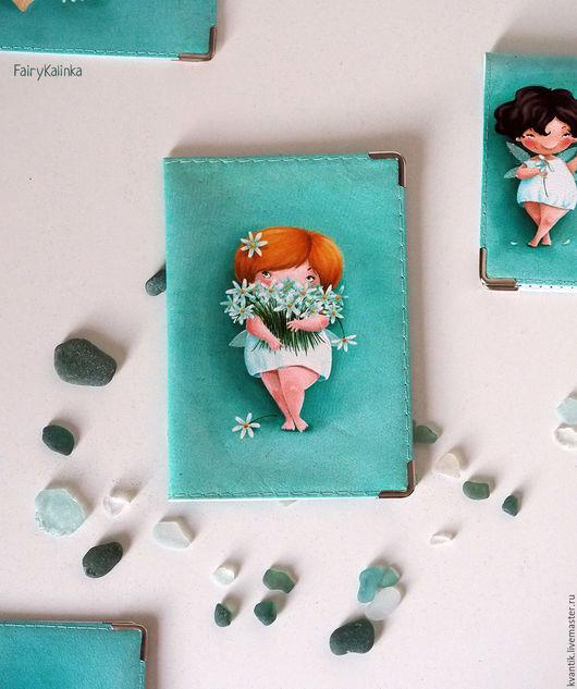 Обложка на паспорт с рыжей феечкой-ромашкой от Elina Ellis Обложка может быть с тремя феечками или одной из трёх!  Магазин волшебных феечек. FairyKalinka