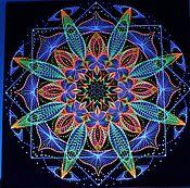 """Картины и панно ручной работы. Ярмарка Мастеров - ручная работа Мандала из ниток """"Космический цветок"""". Handmade."""