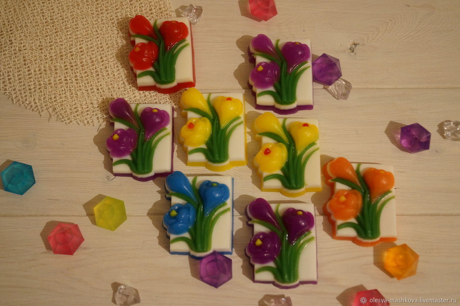 Soap Crocuses - spring flowers, Soap, Moscow,  Фото №1