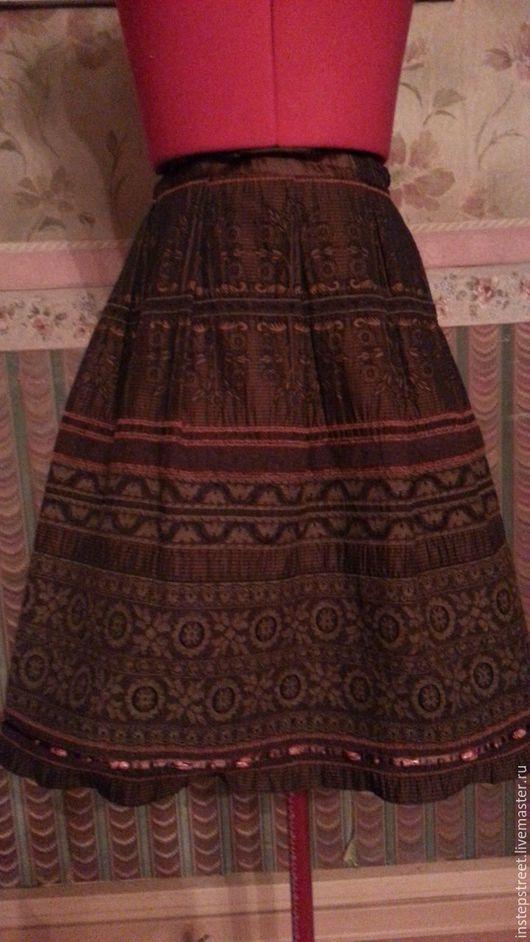Юбки ручной работы. Ярмарка Мастеров - ручная работа. Купить ЮБКА в этническом стиле. Handmade. Коричневый, нарядная юбка