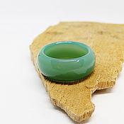 Украшения handmade. Livemaster - original item Green agate ring, chalcedony 18.75 R-R. Handmade.