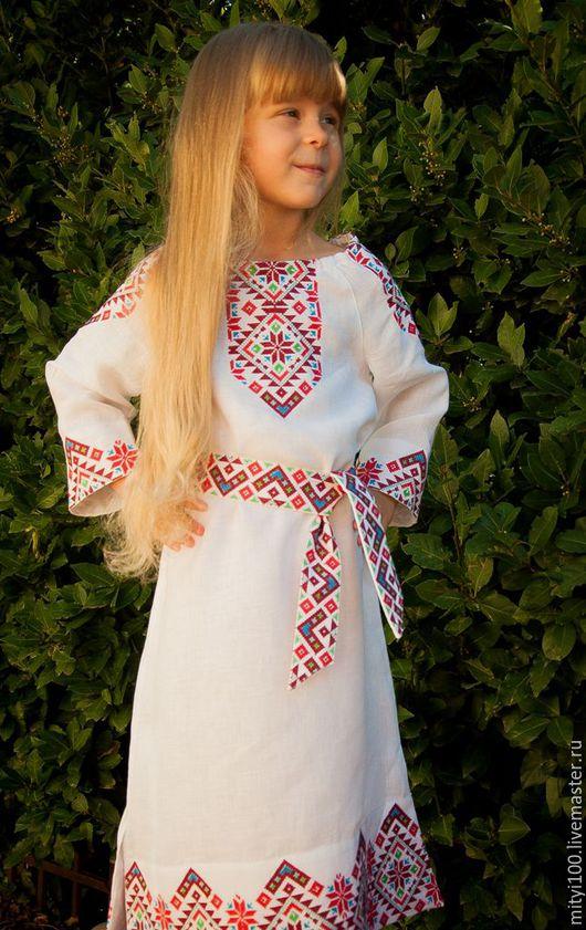 Детское платье СЛАВУШКА (цветное)
