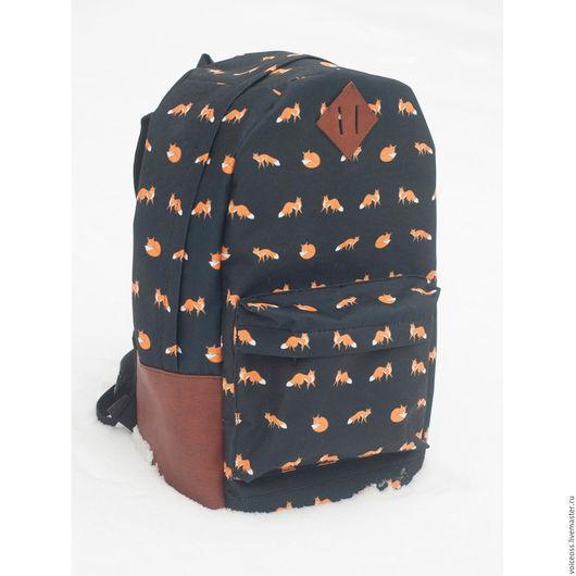 """Рюкзаки ручной работы. Ярмарка Мастеров - ручная работа. Купить Рюкзак Classic black """"Fox"""". Handmade. Рюкзак, рюкзак женский"""