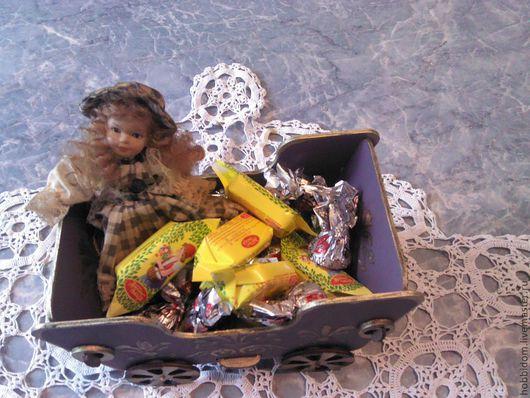 Конфетницы, сахарницы ручной работы. Ярмарка Мастеров - ручная работа. Купить Карета конфетница. Handmade. Сиреневый, мебель для кукол, шкатулка