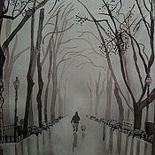 Картины и панно ручной работы. Ярмарка Мастеров - ручная работа Утро туманное. Handmade.
