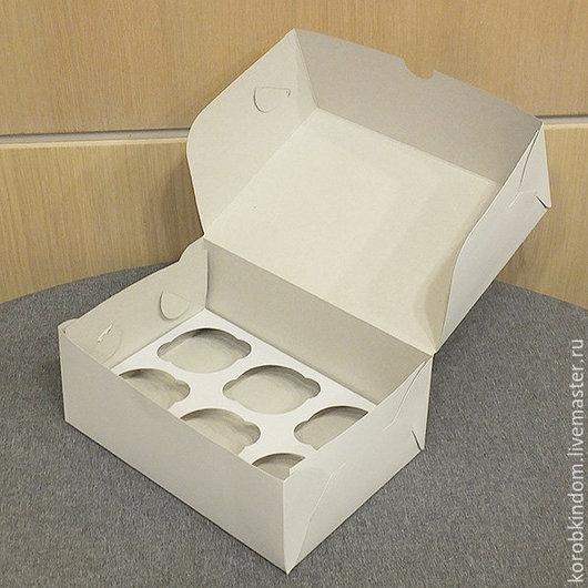 Упаковка ручной работы. Ярмарка Мастеров - ручная работа. Купить Коробочка 25х17х10 см без окна с вкладышем белая. Handmade.