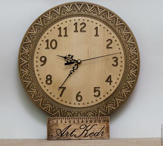 """Часы для дома ручной работы. Ярмарка Мастеров - ручная работа. Купить Часы """"Купава"""" 30 см. Handmade. береза"""