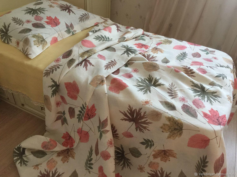 Flax linen Listopad 1,5 SP, Bedding sets, Ivanovo,  Фото №1