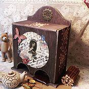"""Для дома и интерьера ручной работы. Ярмарка Мастеров - ручная работа """"Воспоминания моей бабушки"""" чайный комодик. Handmade."""