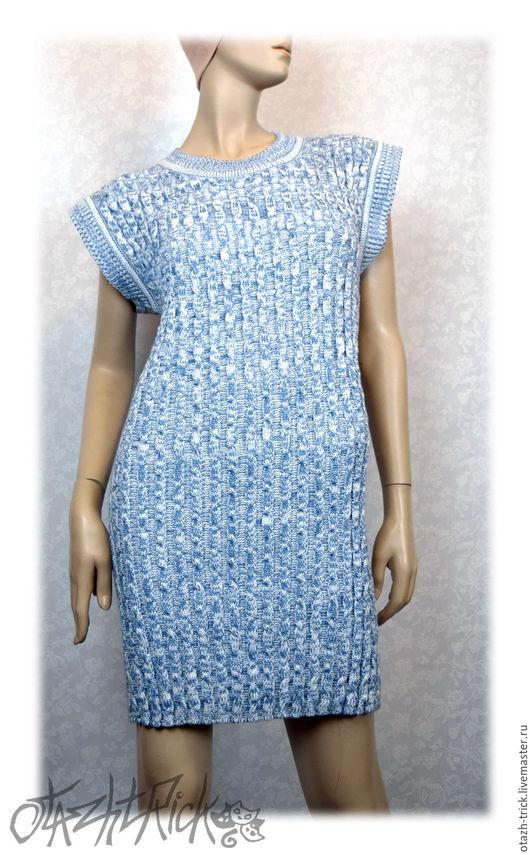 Платья ручной работы. Ярмарка Мастеров - ручная работа. Купить Платье без рукавов - Косы меланж. Handmade. Фактура, косички
