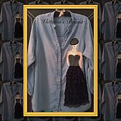 "Одежда handmade. Livemaster - original item Denim shirt collection ""Podium"". Handmade."