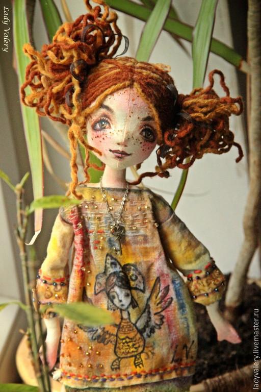Коллекционные куклы ручной работы. Ярмарка Мастеров - ручная работа. Купить Настенька. Handmade. Рыжий, ключик, lady valery