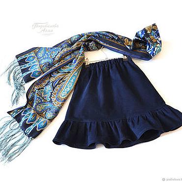 """Работы для детей, ручной работы. Ярмарка Мастеров - ручная работа Детская вельветовая юбка """"Прогулка"""",для девочки ,школьная форма. Handmade."""