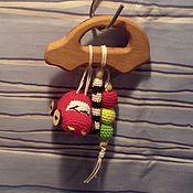 """Куклы и игрушки ручной работы. Ярмарка Мастеров - ручная работа прорезыватель-грызунок """"дорожный"""". Handmade."""