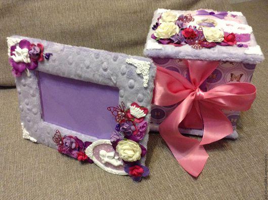 Подарки для новорожденных, ручной работы. Ярмарка Мастеров - ручная работа. Купить Набор мамины сокровища с рамочкой для фото. Handmade. плюш