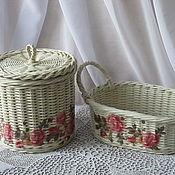 """Короб ручной работы. Ярмарка Мастеров - ручная работа Плетеный набор для кухни """"Маленькая мечта"""". Handmade."""