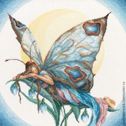 Фэнтези ручной работы. Ярмарка Мастеров - ручная работа. Купить Бабочка-Ночь. Handmade. Разноцветный, бабочка, картина, нитки ДМС