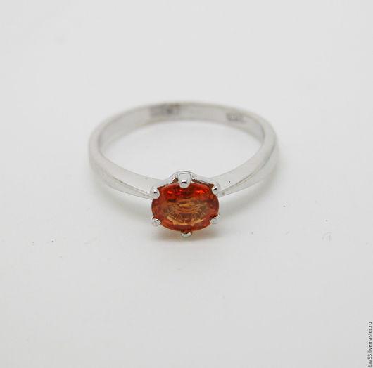 Кольца ручной работы. Ярмарка Мастеров - ручная работа. Купить Кольцо золотое с оранжевым Сапфиром.. Handmade. Кольцо, кольцо с сапфиром