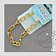 Для украшений ручной работы. Ярмарка Мастеров - ручная работа. Купить Цепочка браслет  золото, серебро  20,5 см. 002, 004. Handmade.