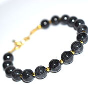 Украшения handmade. Livemaster - original item Bracelet made of natural black jade. Handmade.